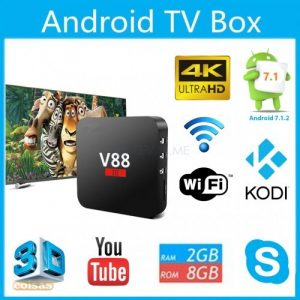 TV Box - Android 7.1.2 - V88 III - Kodi - 4K Ultra HD - 2 GB ideal para casa