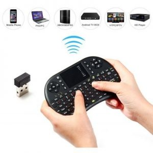 Mini Teclado com Rato para Smart Tv e tv box